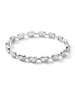 Ippolita Sterling Silver Rock Candy Multi-Stone Bangle in Mother-of-Pearl Doublet