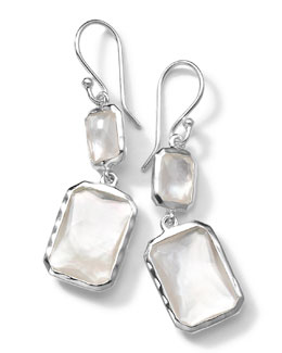 Ippolita Sterling Silver Wonderland Rectangular Mini-Drop Earrings in Mother-of-Pearl Doublet