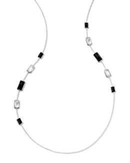 Ippolita Sterling Silver Wonderland Rectangular 10-Stone Graduated Station Necklace in Astaire, 34""