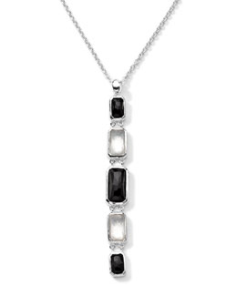 Ippolita Sterling Silver Wonderland Rectangular Linear 5-Stone Pendant Necklace in Astaire