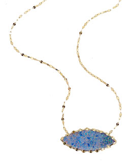 Lana Frosted 14k Marquise Opal Necklace