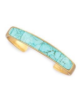 Pamela Love Irissa Turquoise Inlay Gold-Plate Cuff