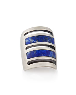Pamela Love Silver Lapis Inlay Path Ring