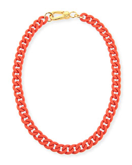 MARC by Marc Jacobs Rubber Chain Necklace, Orange