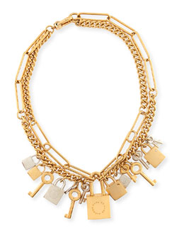 MARC by Marc Jacobs Lock & Key Statement Necklace