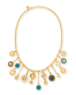 MARC by Marc Jacobs Stardust Charm Necklace, Green