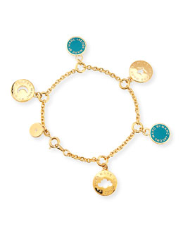 MARC by Marc Jacobs Cutout Cosmic Coin Bracelet, Green
