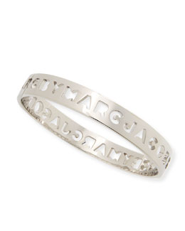 MARC by Marc Jacobs Cut it Out Logo Bangle, Silvertone