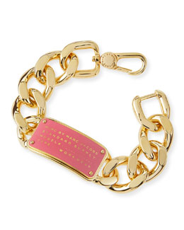 MARC by Marc Jacobs Standard Supply ID Chain Bracelet, Pink
