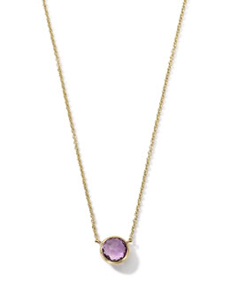 Ippolita 18K Gold Mini-Lollipop Birthstone Necklace (February), 16-18""