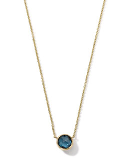 Ippolita 18K Gold Mini-Lollipop Birthstone Necklace (March), 16-18""