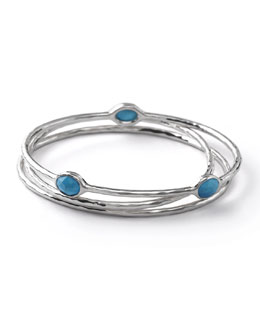 Ippolita Sterling Silver Bangle Set in Turquoise