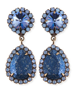 Dannijo Monaco Light Blue & Crystal Statement Earrings