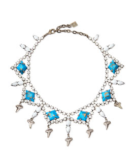 Dannijo Dane Shark-Tooth Crystal Collar Necklace
