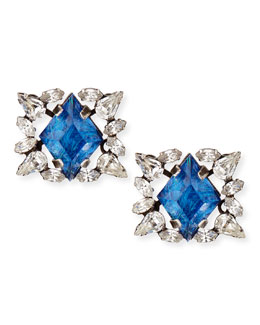 Dannijo Bri Crystal Stud Earrings