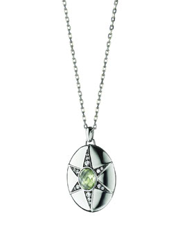 Monica Rich Kosann Prasiolite & White Sapphire Locket Necklace, 32""
