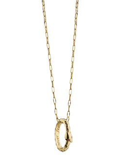 Monica Rich Kosann 18K Gold Snake Posey Pendant Necklace