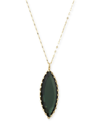 Midnight Marquis Pendant Necklace, 18