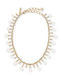 Oscar de la Renta Staggered Pearly Necklace