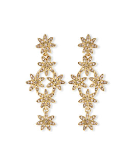 Oscar de la Renta Pavé Swarovski® Flower Drop Earrings