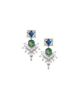 Dannijo Brianna Crystal Statement Earrings
