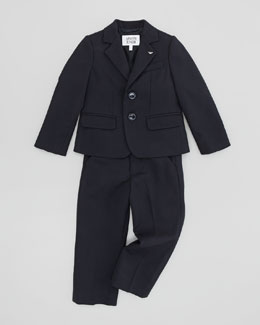 Armani Junior Boys' Two-Piece Suit, Blue, 2Y-8Y