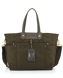 MARC by Marc Jacobs Preppy Nylon Eliz-A-Baby Diaper Bag, Dirty Martini