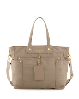 MARC by Marc Jacobs Preppy Nylon Eliz-A-Baby Diaper Bag, Beige