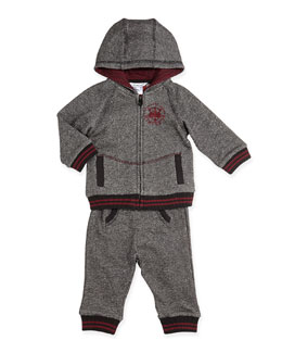 Little Marc Jacobs Two-Piece Jogging Set, Gray, 3-18 Months