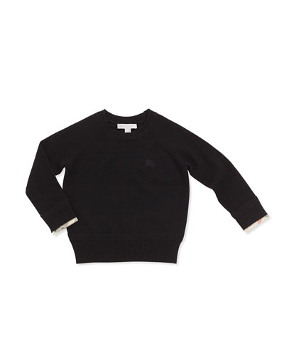 Cashmere Crewneck Sweater, Black