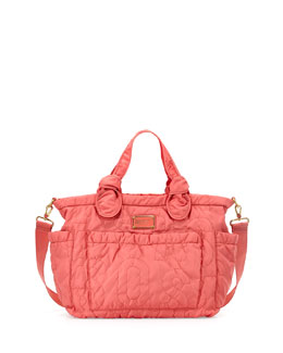 MARC by Marc Jacobs Eliz-A-Baby Pretty Nylon Diaper Bag, Rose Bush