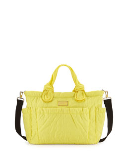 MARC by Marc Jacobs Eliz-A-Baby Pretty Nylon Diaper Bag, Banana Creme