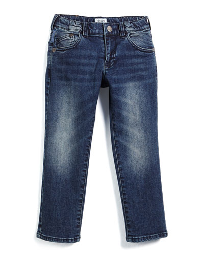 Faded Slim-Fit Jeans, Medium Wash, Size 3-8
