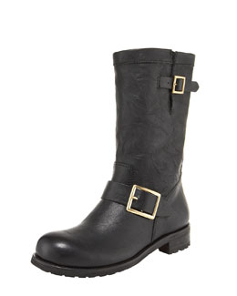 Jimmy Choo Biker Buckled Motorcycle Boot