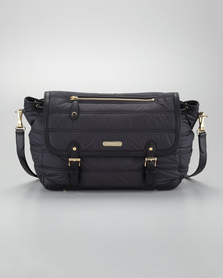 Messenger Diaper Bag, Black