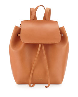 Mansur Gavriel Mini Vegetable-Tanned Leather Backpack
