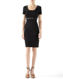 Gucci Viscose Jersey Belted Dress