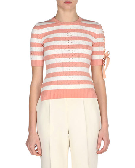 Fendi Regimental Striped Knit Sweater