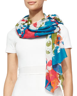 MARC by Marc Jacobs Paint Blob Printed Cotton Scarf