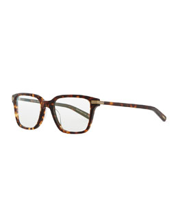 Oliver Peoples Stone Rectangle Fashion Glasses, Tortoise