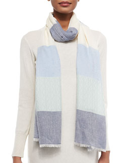 Tory Burch Multi-Stripe Jacquard Scarf