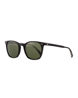 Oliver Peoples L.A. Coen Universal-Fit Sunglasses, Black