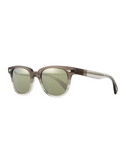 Oliver Peoples Masek Universal-Fit Sunglasses, Gray