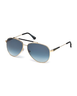 TOM FORD Rick Gradient Aviator Sunglasses