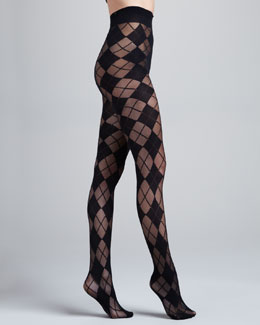 Alice + Olivia Argyle Semisheer Tights