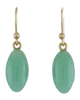Ted Muehling Green Aventurine Berry Earrings