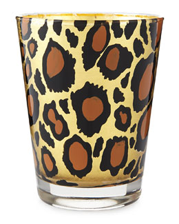 Barbera Hand-Painted Leopard Votive