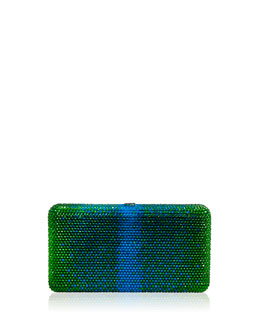Judith Leiber Airstream Large Ombre Clutch Bag, Green
