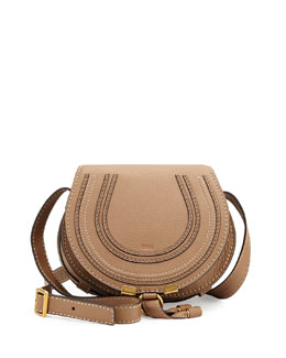 Chloe Marcie Small Satchel Bag, Light Brown
