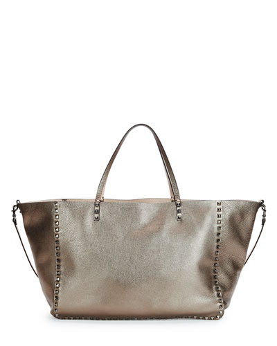 Rockstud Reversible Double-Sided Tote Bag, Bronze